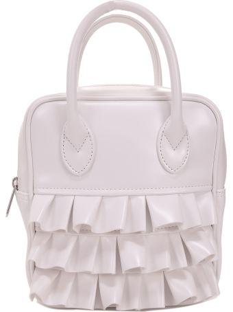 Comme Des Garçons Girl White Faux Leather Bag