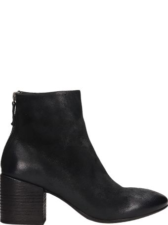 Marsell Coltello Black Leather Ankle Boots