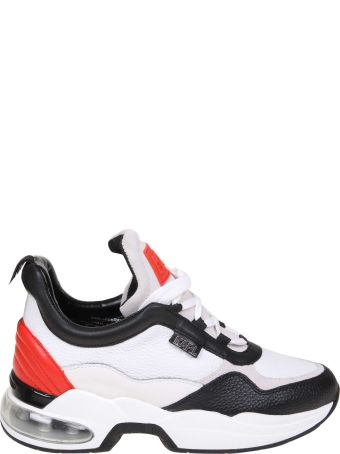 Karl Lagerfeld Sneakers In Leather White Color