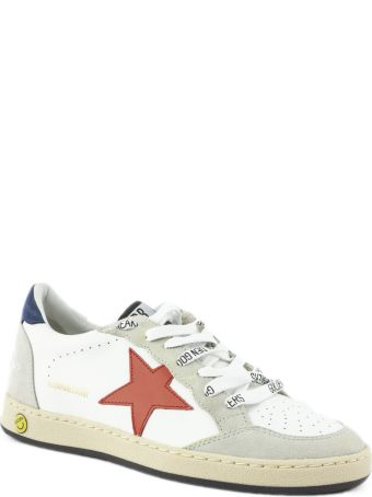 Golden Goose White Leather Ball Star Sneakers