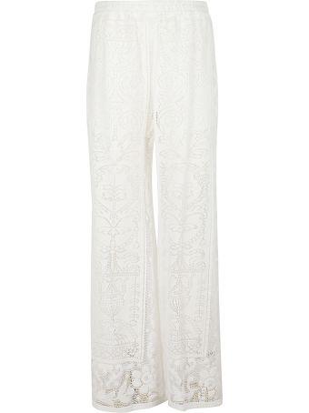 Dolce & Gabbana Crochet Palazzo Trousers