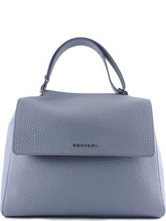Orciani Dusty-tone Leather Sveva Large Bag