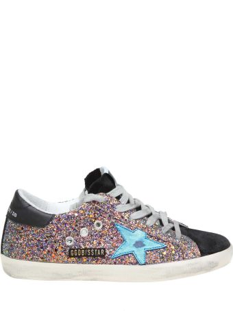 Golden Goose Superstar Sneakers In Glittered Leather