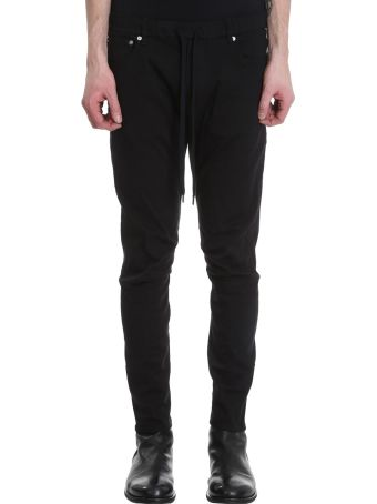 Attachment Biker Black Denim Jeans