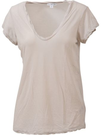 James Perse V-neck T-shirt Ice