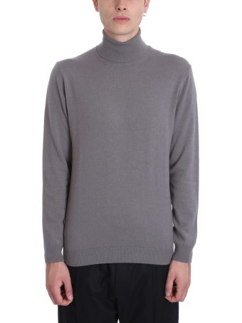 Low Brand Grey Wool High Collar Turtleneck