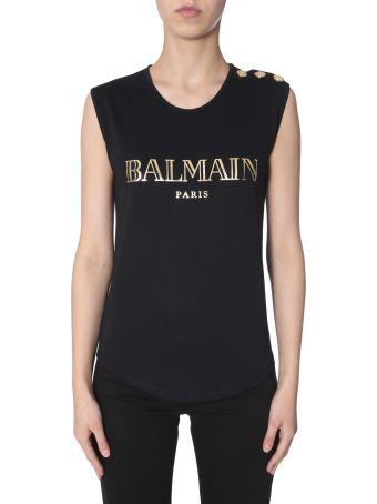 Balmain Logo-print Top