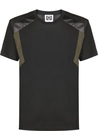 Les Hommes Patchwork Panel T-shirt