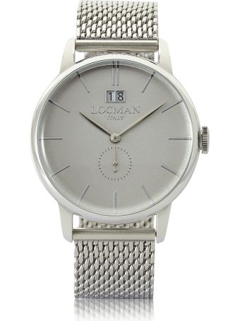 Locman 1960 Silver Stainless Steel Men's Watch