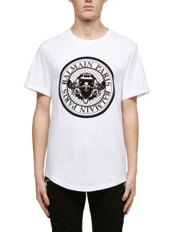 Balmain Round Logo Classic T-shirt