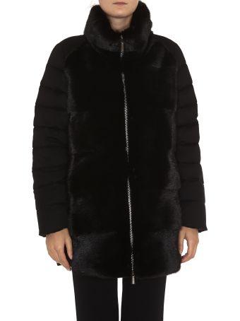 Moorer Nova Padded Coat With Fur