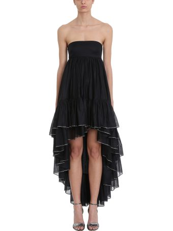 Alexandre Vauthier Asymmetric Black Cotton Dress