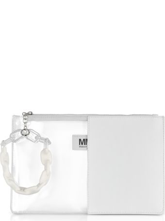 MM6 Maison Margiela Mm6 Maison Martin Margiela White Half Transparent Pouch