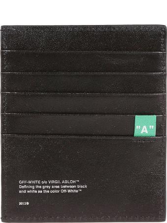 Off-White Diagonal Stripe Card Holder