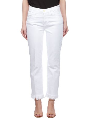 Frame Fringed Hem Jeans