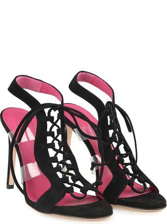 Oscar Tiye Jamie Lace-up Suede Sandals