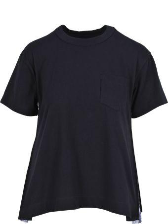 Sacai Tshirt Zip Pleates