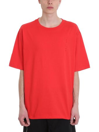 Ben Taverniti Unravel Project Red Cotton T-shirt