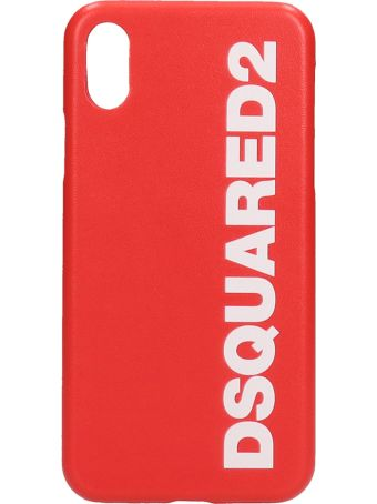 Dsquared2 Iphone X Cover In Red Pvc