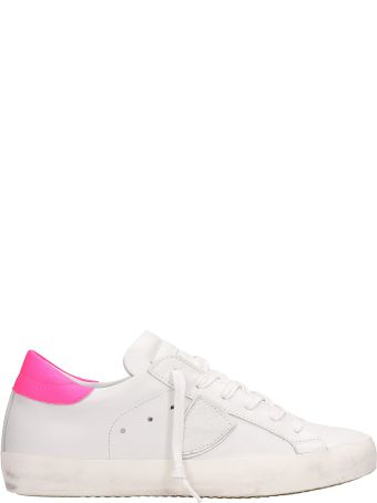 Philippe Model Paris White Pink Fluo Sneakers