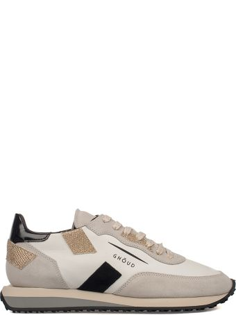 GHOUD White /gold Ghouds Leather Sneakers