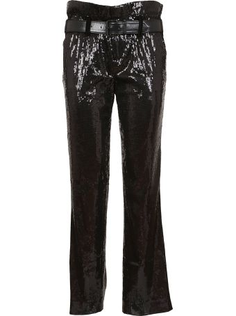 RTA Knitted Belted Sequined Trousers