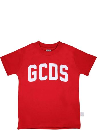 GCDS Mini T-shirt Red Gcds With White Logo