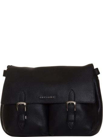 Orciani Bonnie Leather Bag In Black