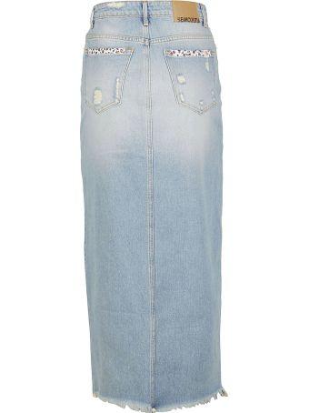 SEMICOUTURE Denim Skirt