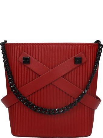 Visone Leila Shoulder Bag In Red Leather