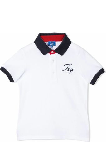 Fay White Cotton Polo Shirt