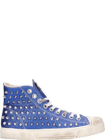 Gienchi Blue Glitter Jean Michel Sneakers