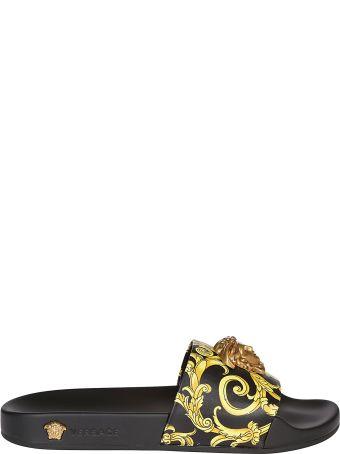 Versace Medusa Head Print Sliders