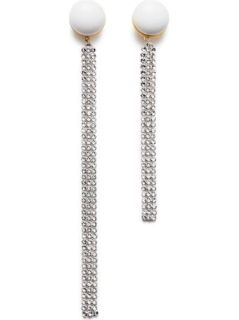 Magda Butrym White And Silver Pvc Earrings