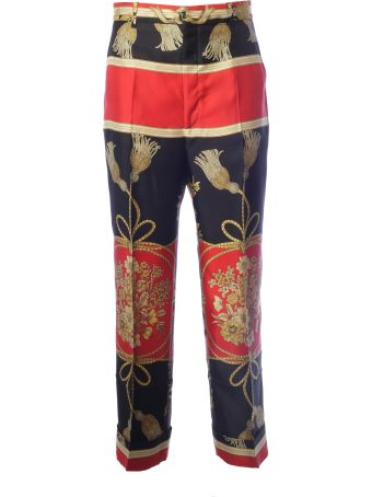 Gucci Embellished Printed Trousers