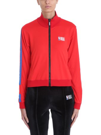 Marcelo Burlon Red Polyester Nba Sweatshirt