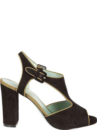 Paola D'Arcano Block Heel Sandals