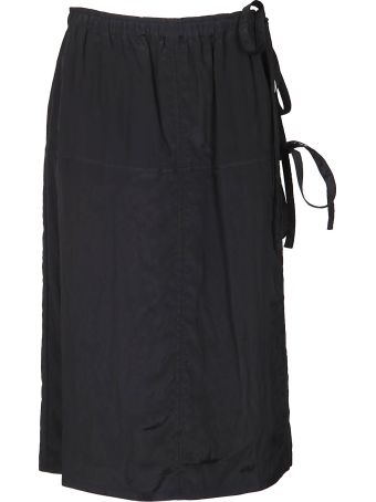 Helmut Lang Tie Waist Midi Skirt
