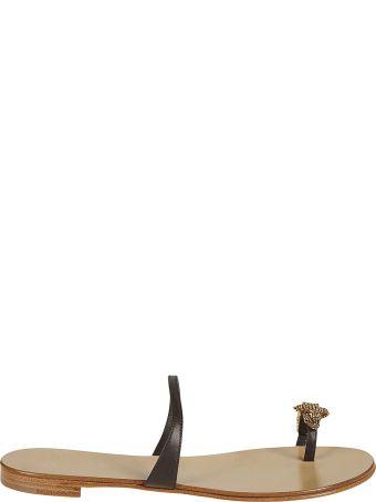 Giuseppe Zanotti Crocodile Applique Sandals