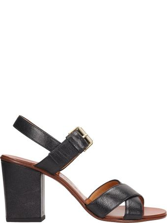 Chie Mihara Black Sandals Leather