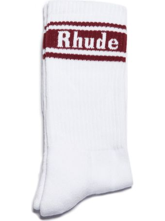Rhude Ribbed Knit Socks