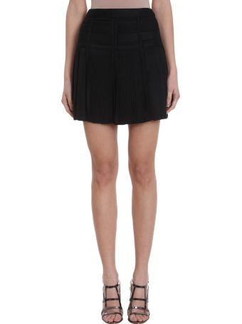 Giovanni Bbedin Black Viscose Skirt