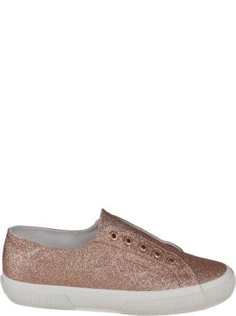 Superga Micro Glitter Slip On Sneakers