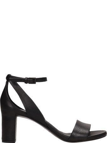 Roberto del Carlo Black Calf Leather Sandals