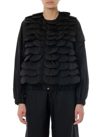 Moncler Genius Black Padded Scallop Jacket