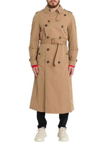Gucci Gabardine Trench With Chateau Marmont
