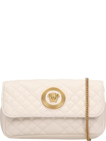 Versace White Quilted Leather Mini Bag