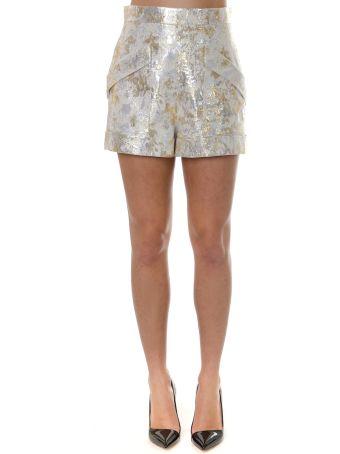 Lanvin Gold Lamé Jacquard Shorts