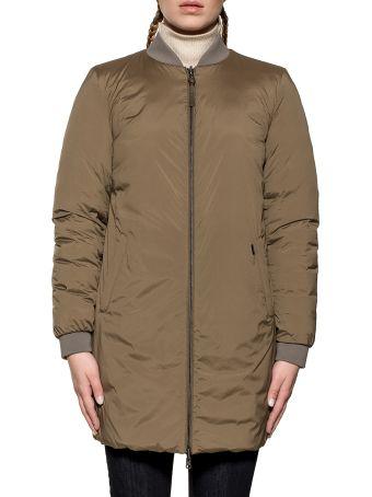 Woolrich Army Green Down Jacket Reverse