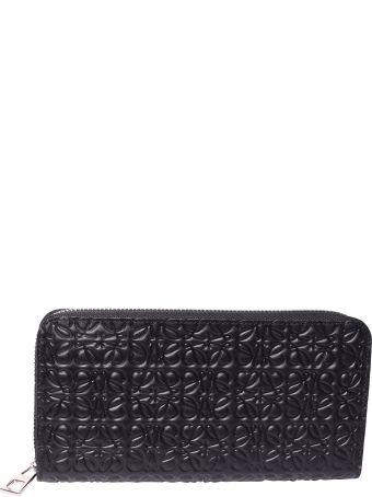 Loewe Logo Embossed Zip Around Wallet